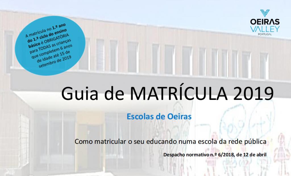 Guia de MATRICULA 2019 - Escolas de Oeiras